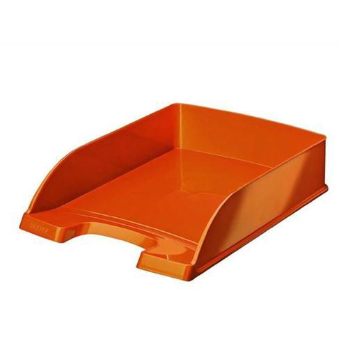 Leitz Bright Letter Tray Stackable Glossy Metallic Orange Ref 52263044