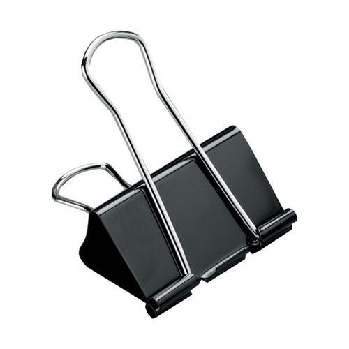 5 Star Office Foldback Clips 19mm Black [Pack 12]