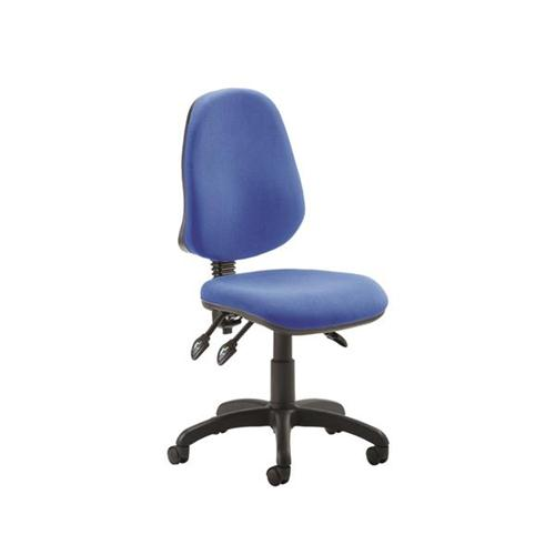 Trexus Operator Chair Flat Packed Fabric Blue