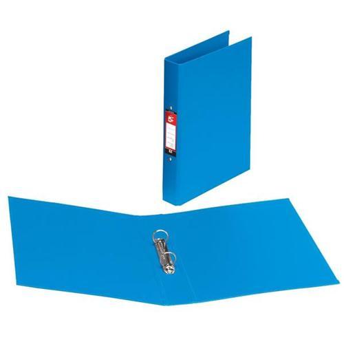 5 Star Office Ring Binder 2 O-Ring Size 25mm Polypropylene A4 Blue [Pack 10]