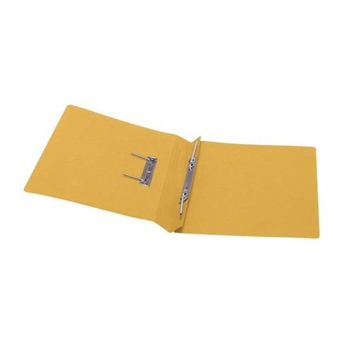 5 Star Office Transfer Spring File Recycled 285gsm Capacity 38mm Foolscap Yellow [Pack 50]