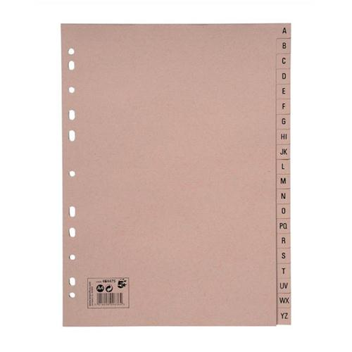 5 Star Eco Manilla Index A-Z 20-Part 150gsm A4 Recycled Manilla