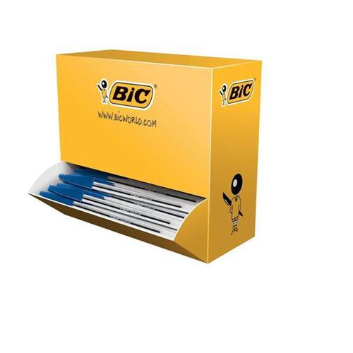 Bic Cristal Ball Pen Clear Barrel 1.0mm Tip 0.4mm Line Blue Ref 896039 [Pack 90 plus 10 FREE]