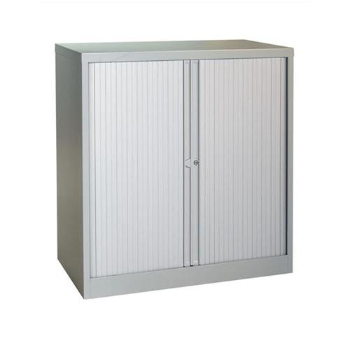 Trexus Tambour Cupboard Steel Side-opening W1000xD470xH1016mm Grey