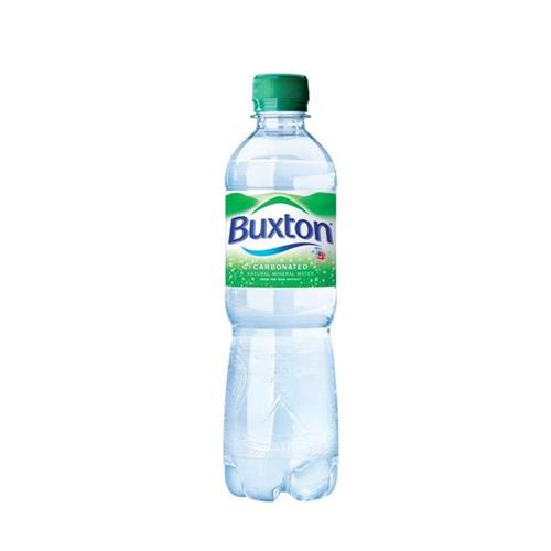 Buxton Natural Mineral Water Bottle Plastic 500ml Sparkling Ref 742895 [Pack 24]