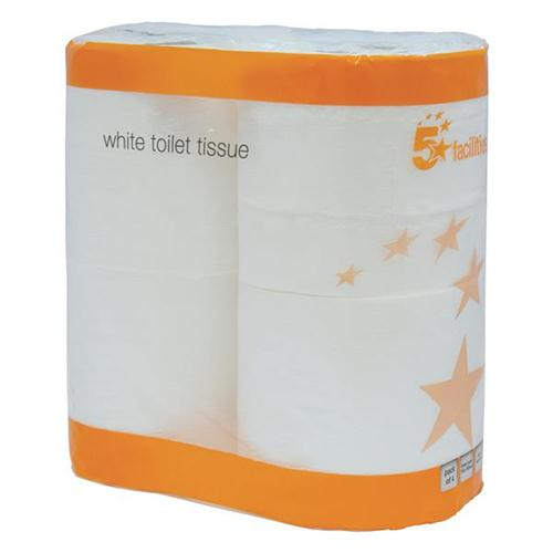5 Star Facilities Toilet Tissue Two-ply 4-Rolls of 200 Sheets White [Pack 36]