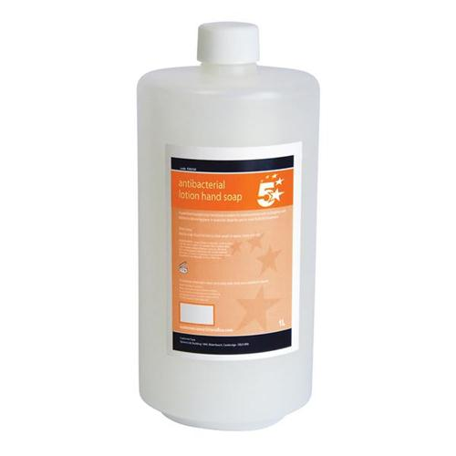 5 Star Facilities Antibacterial Lotion Hand Soap 1 Litre