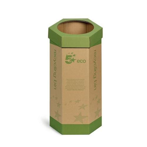 5 Star Eco Recycling Bin Cardboard [Pack 3]