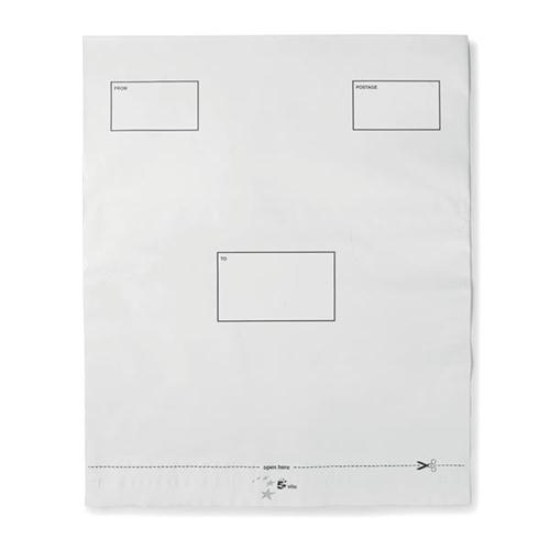 5 Star Elite DX Bags Peel & Seal Waterproof White 395x430mm [Pack 100]