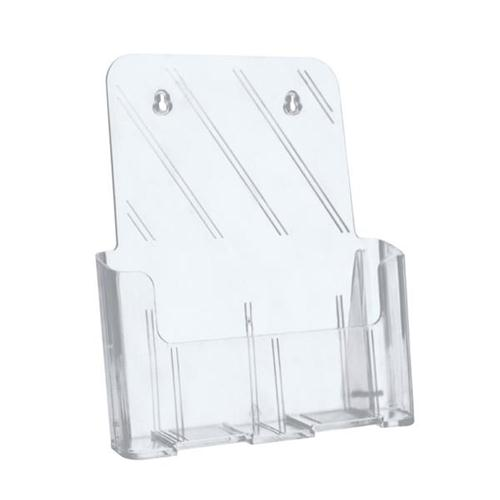 5 Star Office Literature Holder Slanted A4 Clear