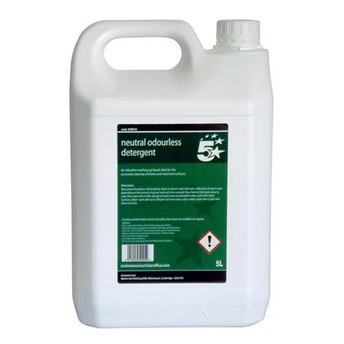 5 Star Facilities Unscented Washing-up Liquid 5 Litres