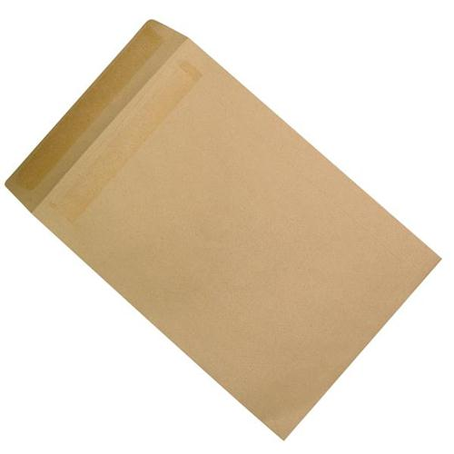 5 Star Office Envelopes Mediumweight Pocket Self Seal 90gsm Manilla C4 [Pack 250]