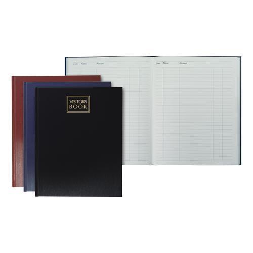 Collins Company Visitors Book 192 Pages 254x203mm Random Colour Ref 40