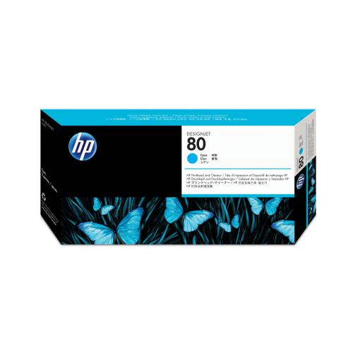 Hewlett Packard [HP] No.80 Printhead & Printhead Cleaner 17ml Cyan Ref C4821A