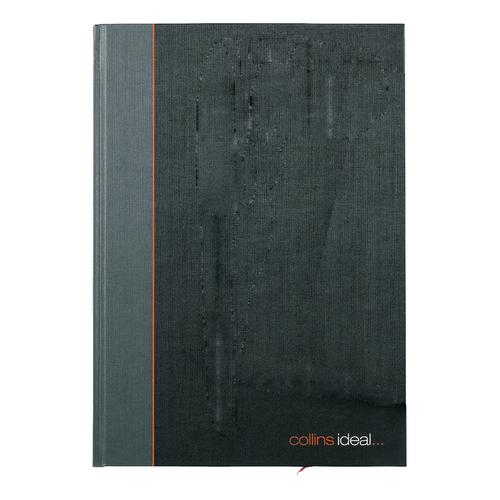 Collins Ideal Notebook Casebound 80gsm Ruled 192pp A4 Black/Green Ref 6428