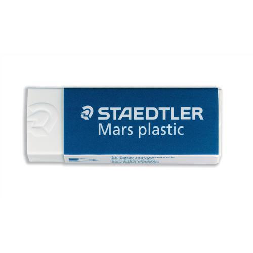 Staedtler Mars Plastic Eraser Premium Quality Self-cleaning 65x23x13mm Ref 52650 [Pack 20]