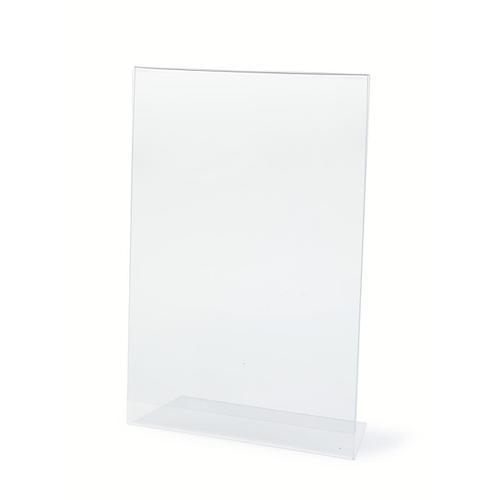 Slanted Sign Holder Side Loading A4 Clear