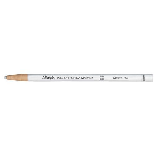 Sharpie China Wax Marker Pencil Peel-off Unwraps to Sharpen White Ref S305061 [Pack 12]
