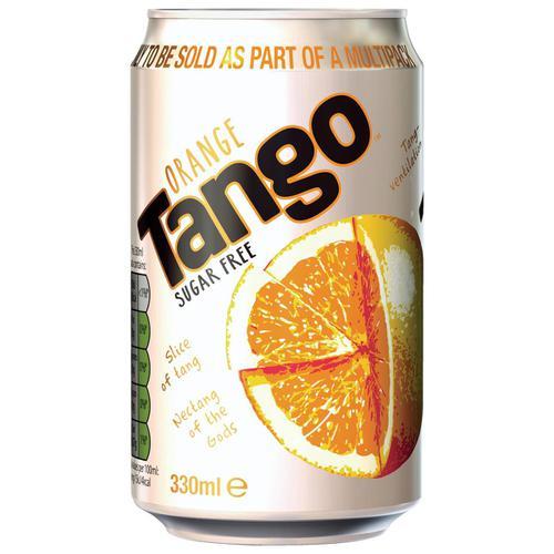 Tango Orange Sugar Free Soft Drink Can 330ml Ref 201751 [Pack 24]