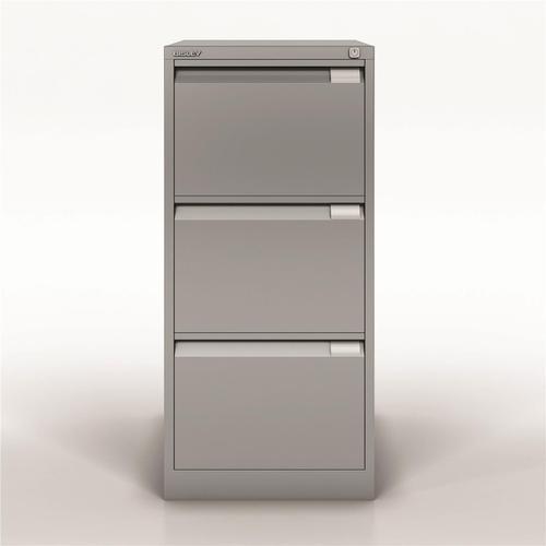 Bisley Filing Cabinet 470x622x1016mm 3 Drawer Goose Grey Ref 1633-av4