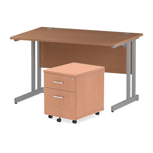 Trexus Cantilever Desk 1200 & 2 Drawer Pedestal Bch Feb3/20