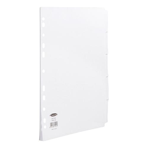 Concord Subject Dividers 5-Part Multipunched 150gsm A4 White Ref 79901