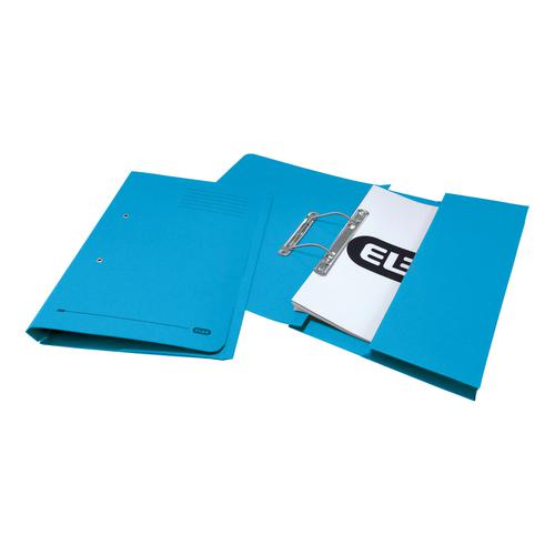 Elba StrongLine Transfer Spring File Recycled 320gsm Foolscap Blue Ref 100090146 [Pack 25]