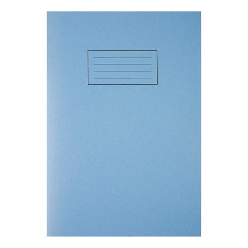 Silvine Exercise Book Plain 80 Pages 75gsm A4 Blue Ref EX114 [Pack 10]
