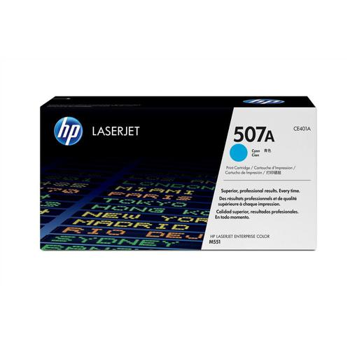 HP 507A Laser Toner Cartridge Page Life 6000pp Cyan Ref CE401A