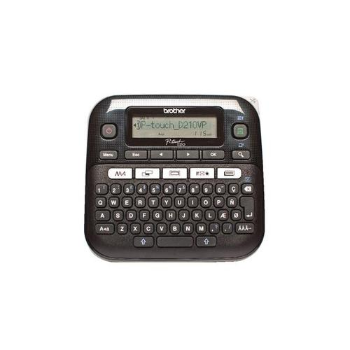 Brother P-Touch Labelmaker Desktop and Case 8 fonts TZE max. 12mm Ref PTD210VP