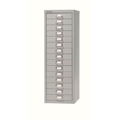 Bisley SoHo 15 Drawer Multidrawer 279x380x860mm Grey Ref H3915NL-av4