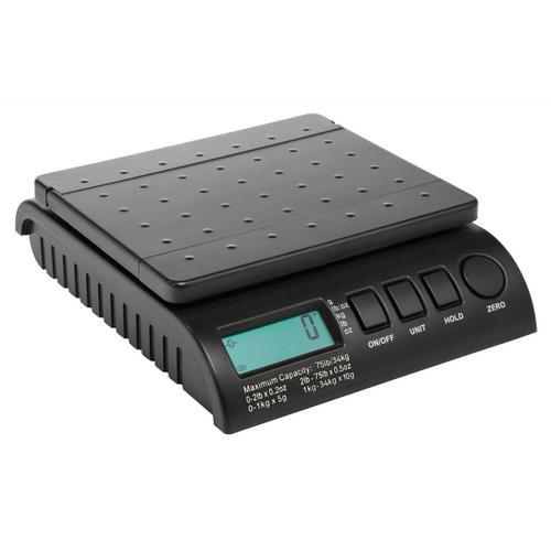 Postship Multi Purpose Scale 5g or 10g Increments Capacity 34kg LCD Display Black Ref PS3400B