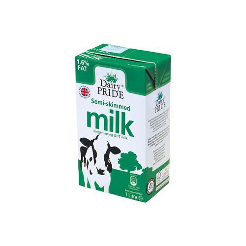 Dairy Pride Semi Skimmed Milk UHT 1 Litre Ref 0402066 [Pack 12]