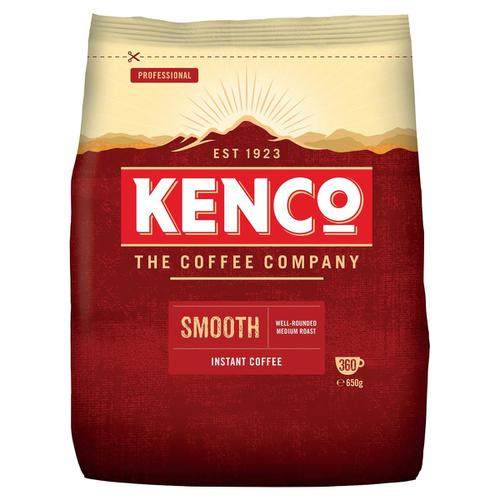 Kenco Smooth Instant Coffee Refill Bag 650g Ref 4032104
