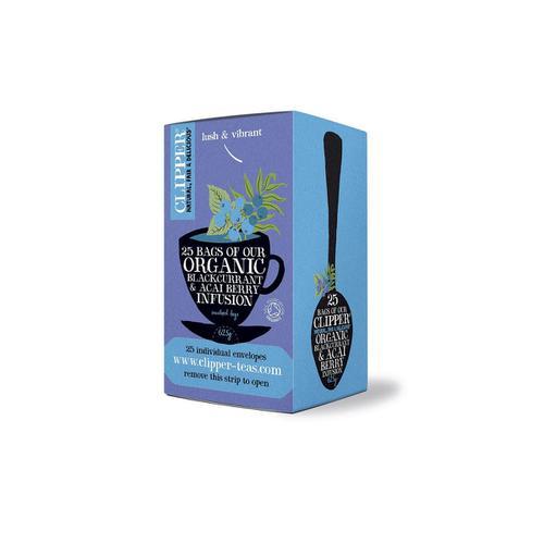 Clipper Organic Blackcurrant & Acai Berry Tea Ref 0403267 [Pack 25]