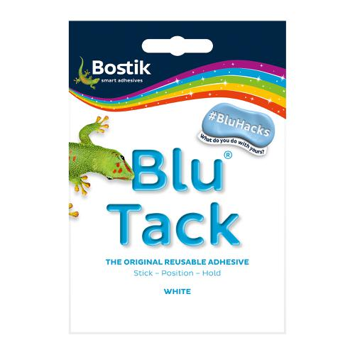 Bostik Blu Tack White Mastic Adhesive Non-toxic Handy Pack 60g Ref 801127 [Pack 12]