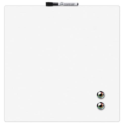 Rexel Magnetic Drywipe Board Square Tile 360x360mm White Ref 1903802