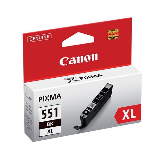 Canon CLI-551XL Inkjet Cartridge High Yield Page Life 1125pp 11ml Black Ref 6443B001