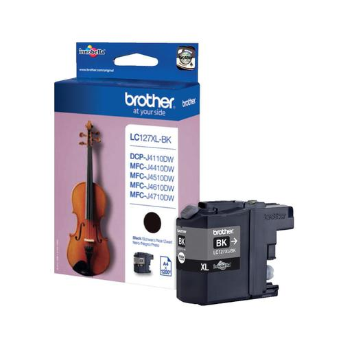Brother Inkjet Cartridge High Yield Page Life 1200pp Black Ref LC127XLBK