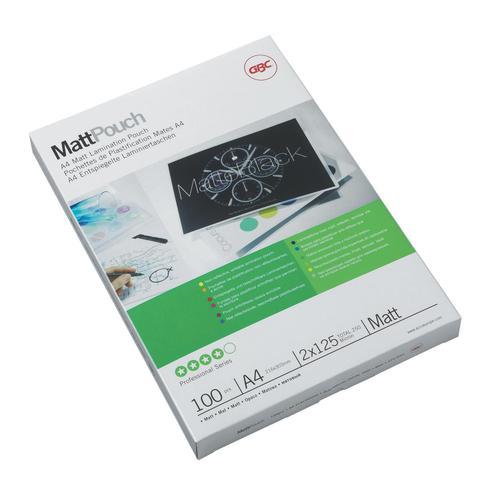 GBC Laminating Pouches Matt 250 Micron for A4 Ref 3747241 [Pack 100]