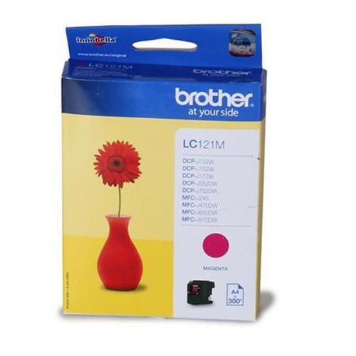 Brother Inkjet Cartridge Page Life 300pp Magenta Ref LC121M