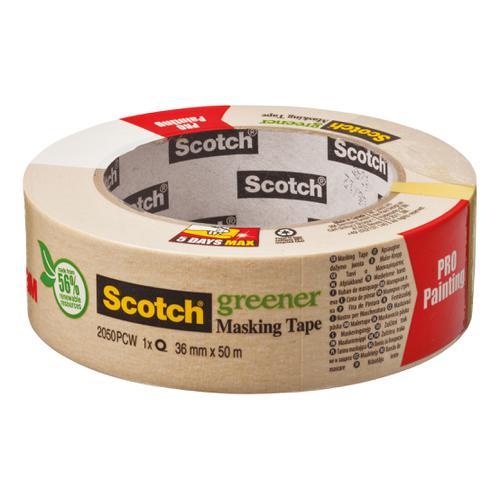 Scotch Greener Masking Tape 36mmx50m Ref 2050 1.5A PCW