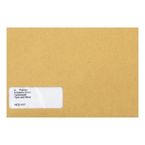 Sage Compatible Wage Envelope Self Seal Window 220x140mm Manilla Ref SE47 [Pack 1000]