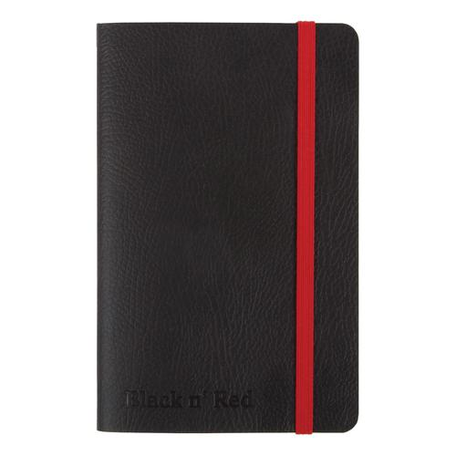 Black By Black n Red Business Journal Soft Cover Ruled and Numbered 144pp A6 Ref 400051205
