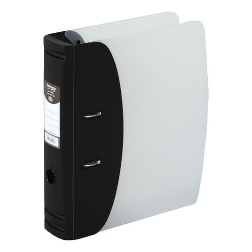 Hermes Lever Arch File Polypropylene 80mm A4 Black Ref 832001