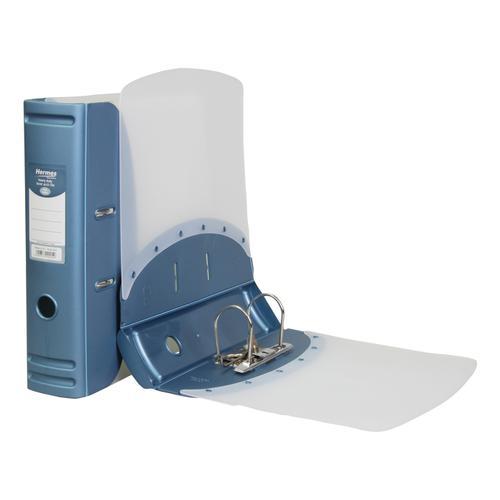 Hermes Lever Arch File Polypropylene 80mm A4 Metallic Blue Ref 832007
