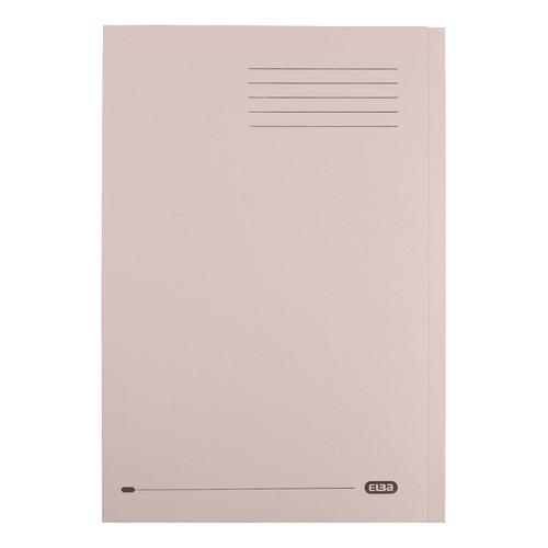 Elba StrongLine Square Cut Folder 320gsm 32mm Foolscap Buff Ref 400053602 [Pack 50]