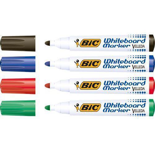 Bic Velleda Marker W/bd Dry-wipe 1701 Lrg Bullet Tip 1.5mm Line Classpk Box Assorted Ref 927259 [Pack 48]