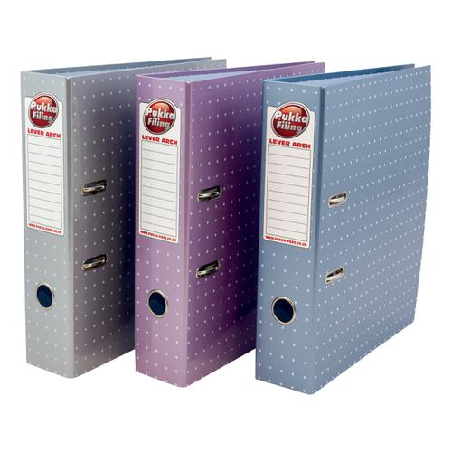 Pukka Metallic Lever Arch File A4 Assorted Ref 6444-MET [Pack 6]