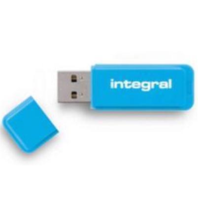 Integral Neon Flash Drive USB 3.0 Blue 64GB Ref INFD64GBNEONB3.0